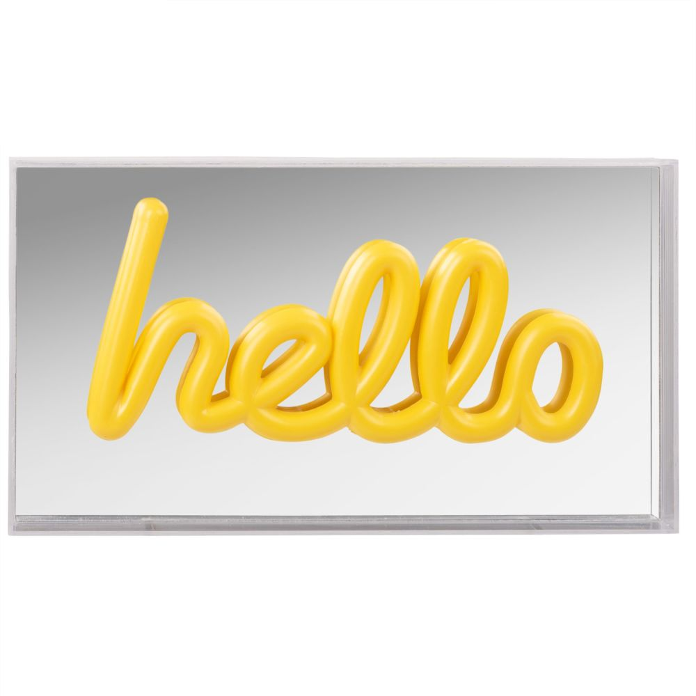 Déco lumineuse LED mot hello (photo)