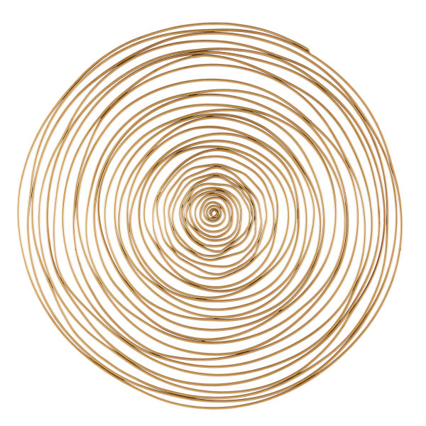 D coration d co murale spirale en m tal dor d91 for Decoration jardin spirale