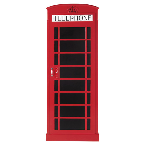 dressing cabine t l phonique rouge phonebox maisons du monde. Black Bedroom Furniture Sets. Home Design Ideas