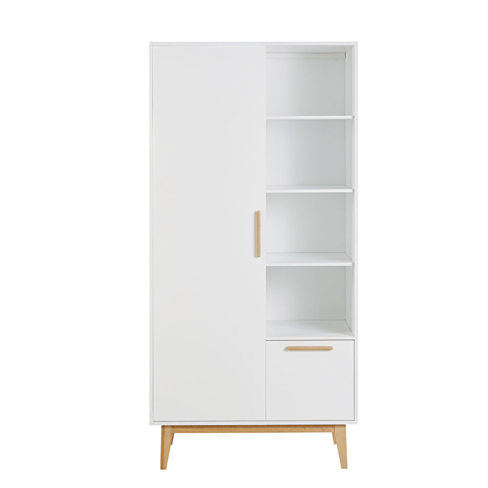 Dressing style scandinave 1 porte 1 tiroir blanc Sweet (photo)