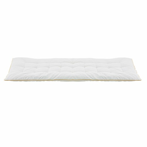 Ecru and Golden Cotton Futon Mattress 90x190