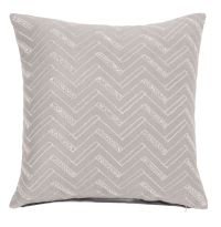 Embroidered Taupe Velvet Cushion Cover 40x40
