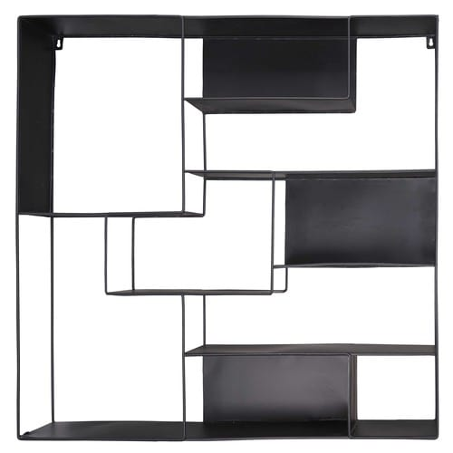 etag re en m tal noir loudmi maisons du monde. Black Bedroom Furniture Sets. Home Design Ideas