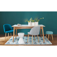 Extendible 6 10 Seater Dining Table In White L150 220 Boop