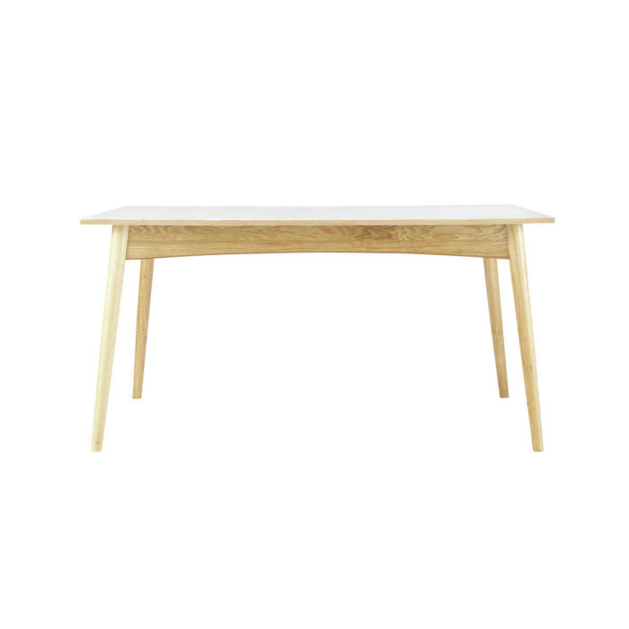 Extendible 6-10 Seater Dining Table in White W150/220 | Maisons du Monde