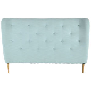 Fabric buttoned 160cm headboard in turquoise blue