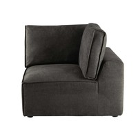 Fabric sofa corner unit in grey taupe Malo