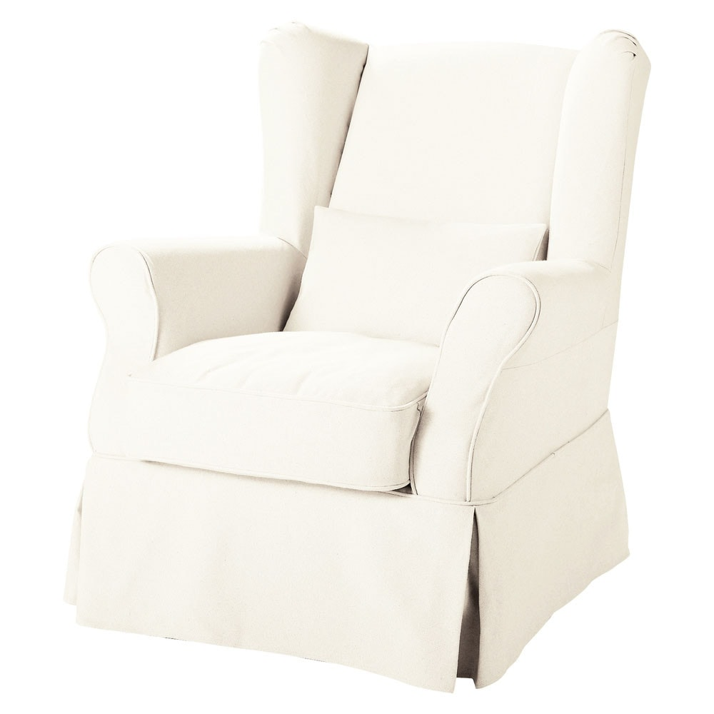 Fauteuil à housser blanc Cottage