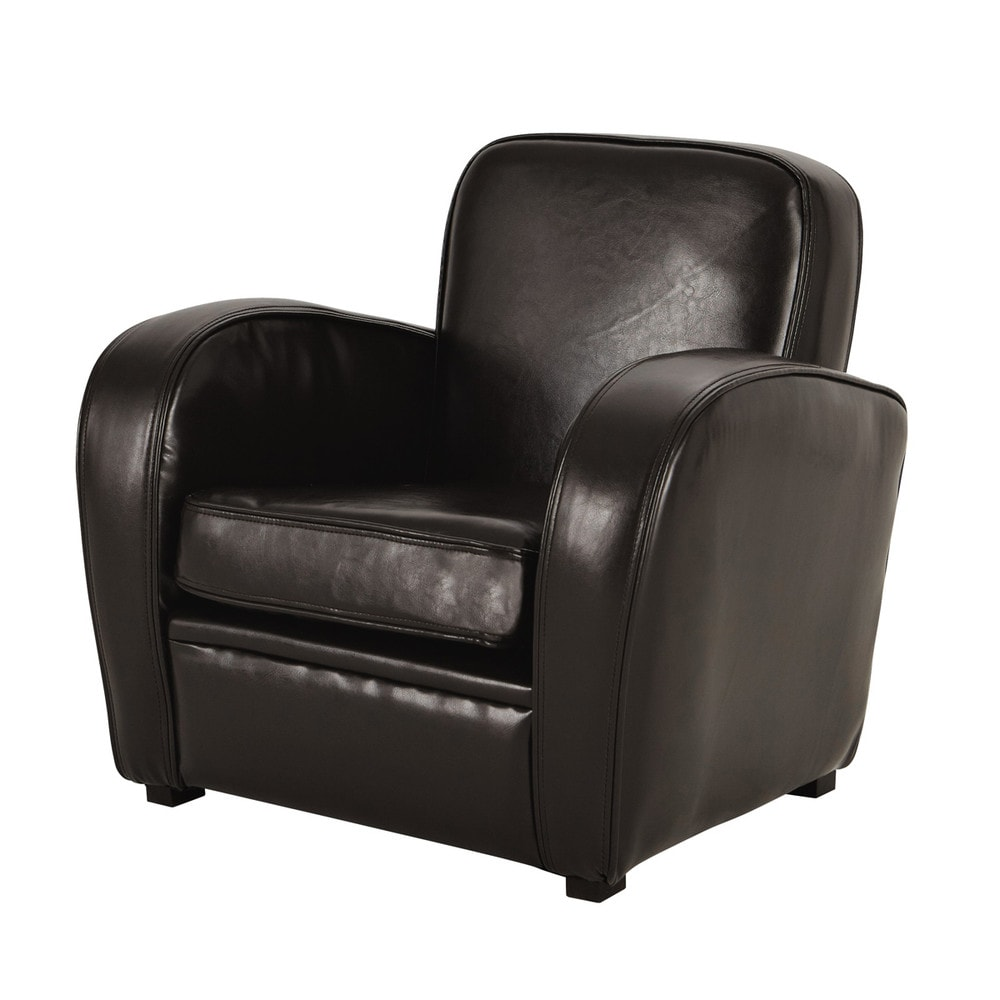 Fauteuil club enfant marron Teddy (photo)