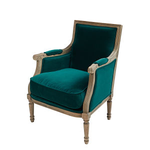 fauteuil en velours bleu canard maisons du monde. Black Bedroom Furniture Sets. Home Design Ideas