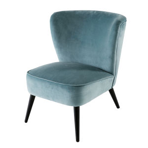 fauteuil en velours bleu clair maisons du monde. Black Bedroom Furniture Sets. Home Design Ideas