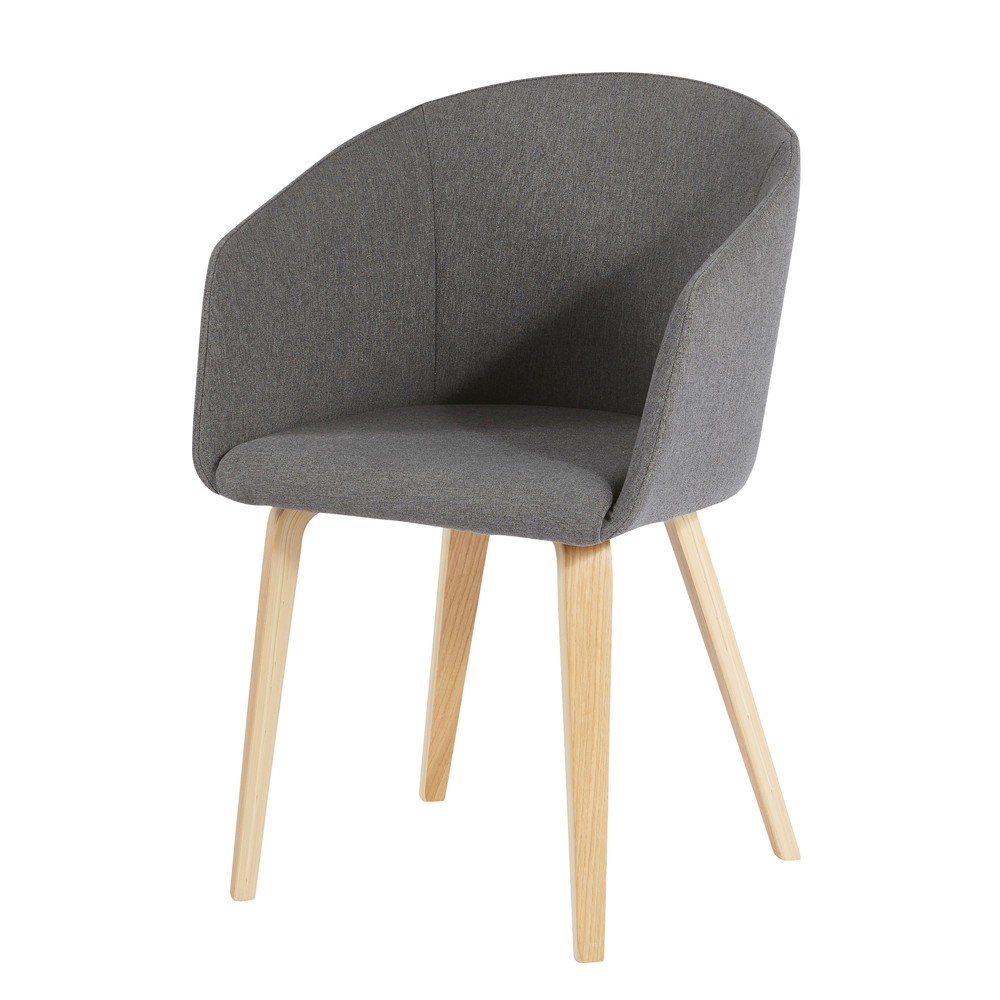 Fauteuil gris Pernety