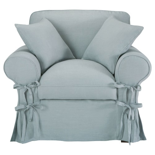 fauteuil lin bleu gris butterfly maisons du monde. Black Bedroom Furniture Sets. Home Design Ideas