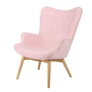 Fauteuil style scandinave rose