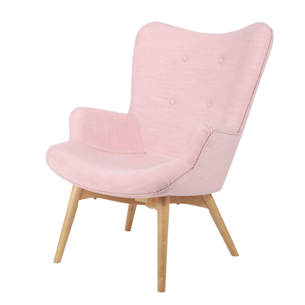 Fauteuil style scandinave rose Iceberg