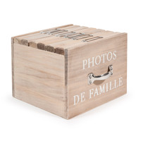wooden box with 6 photo albums 13 x 17cm Felicite