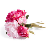 artificial pink peony bouquet H 25cm