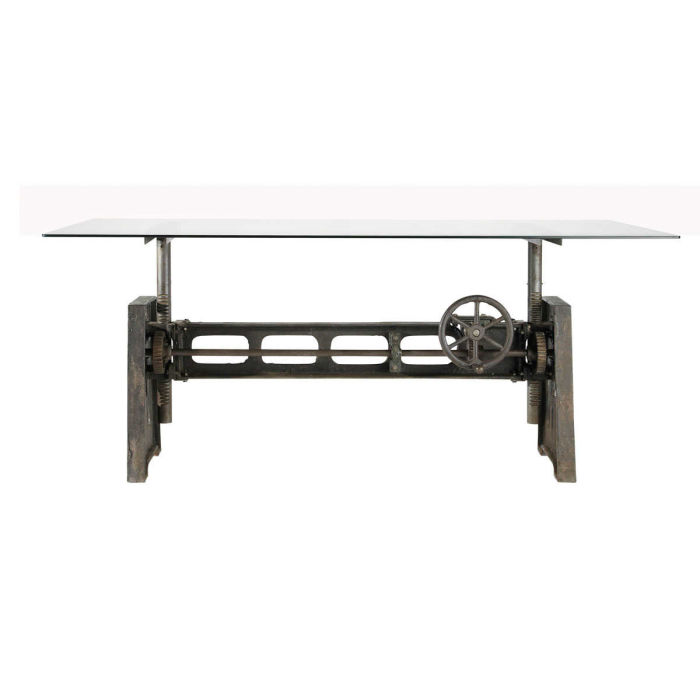 glass and metal dining table l 200 maisons du monde
