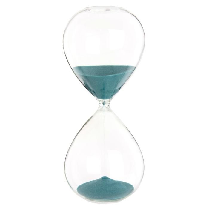 Glass Hourglass with Green Sand | Maisons du Monde
