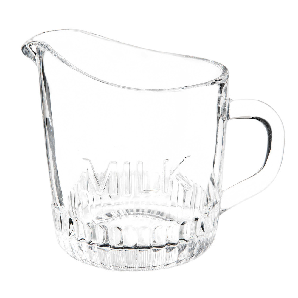 Glass milk jug H 11 cm