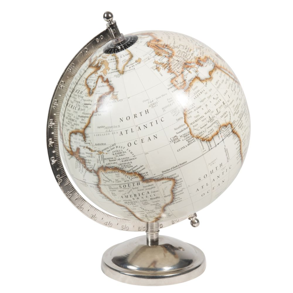 Globe terrestre carte du monde beige (photo)