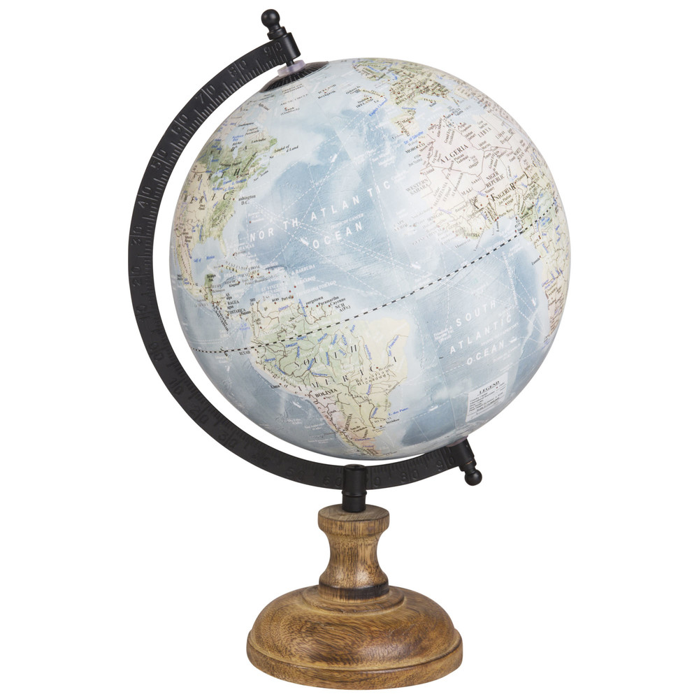 Globe terrestre carte du monde H28 (photo)
