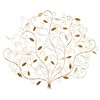 Gold Metal Tree Wall Art 118 x 97 cm - Elena
