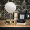 Gold Tabletop Mirror H31
