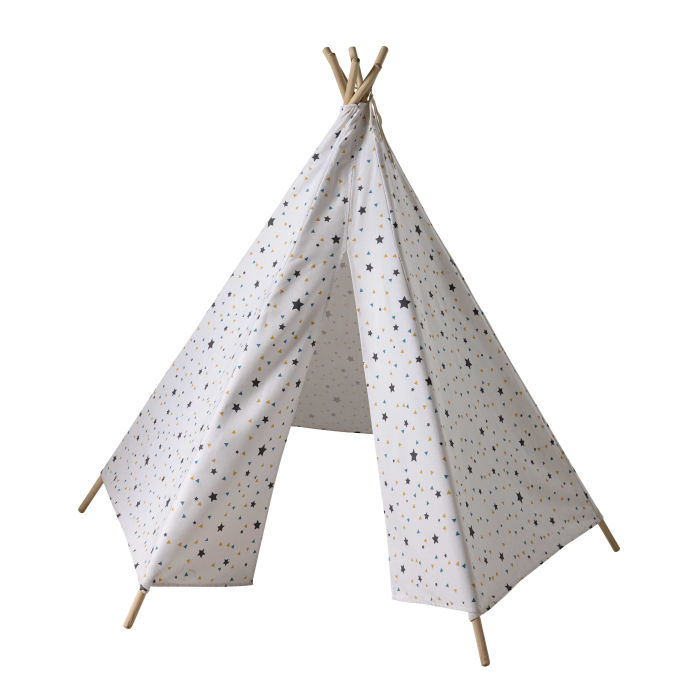 Children\'s Teepee with Triangle and Star Print | Maisons du Monde