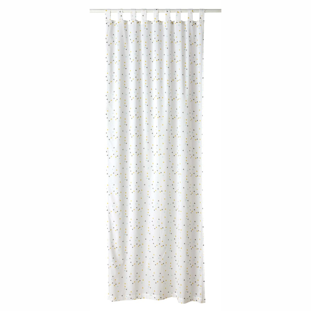 GRAPHIKIDS cotton tabtop curtain with triangle motifs 105 x 250 cm