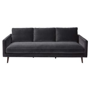Grey 4-seater velvet sofa