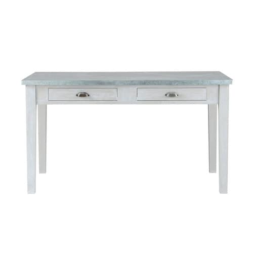 grey acacia wood dining table l 140 cm zinc maisons du monde. Black Bedroom Furniture Sets. Home Design Ideas