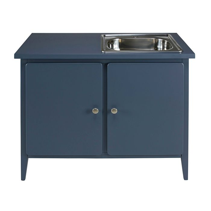 Grey Blue 2 Door Lower Kitchen Cabinet Description Characteristics Availability In Store Shop This Look Thelma