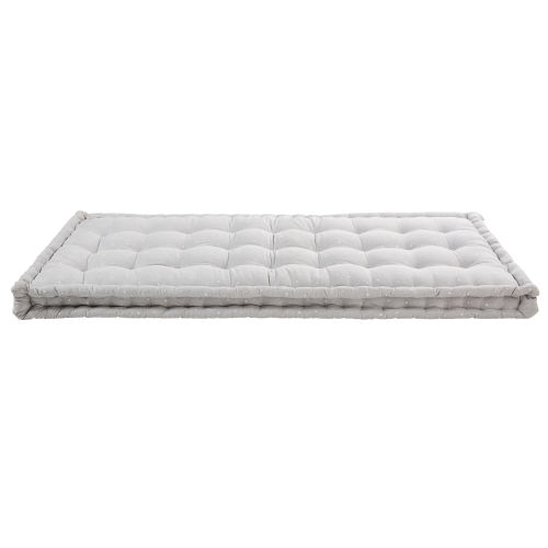 Grey Cotton Futon Mattress 90 x 190