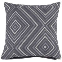 Grey Cushion Cover with Graphic Print 40x40