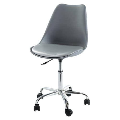 Grey Office Chair with Casters