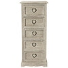 Greyed paulownia wood storage tower unit H 96cm - Camille