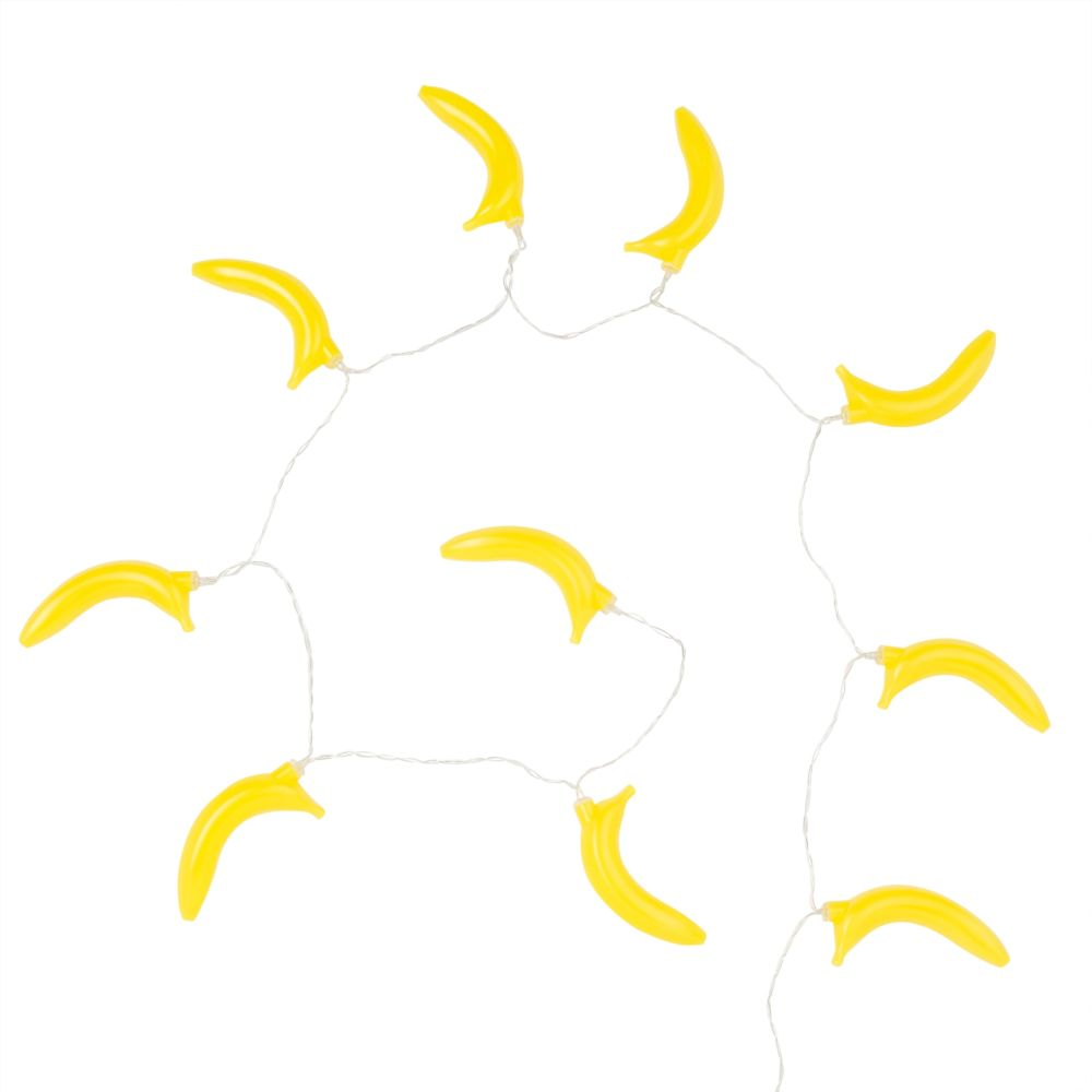Guirlande lumineuse 10 LED bananes L160 (photo)