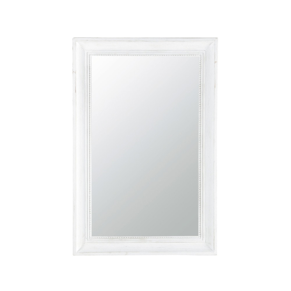 Fir Wood Mirror in Ecru 60x90 | Maisons du Monde