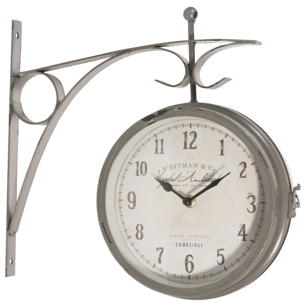 Horloge applique en métal D 34 cm GARDEN (photo)