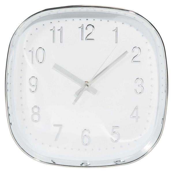 Horloge blanche D.30cm ZAPPY (photo)