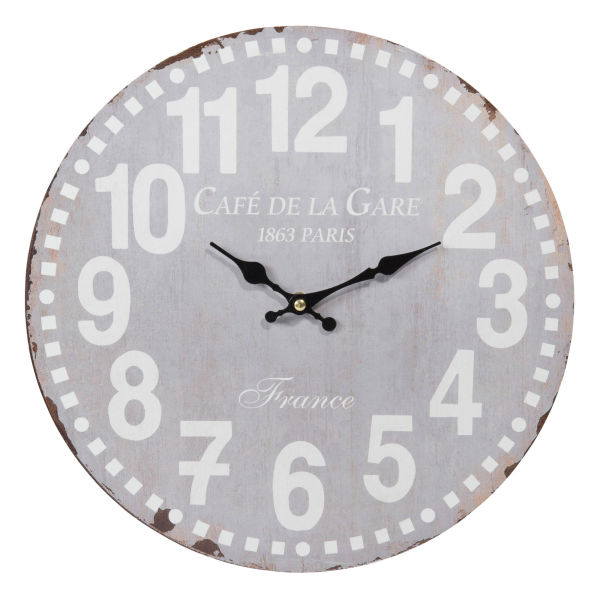 Horloge D 34 cm CAFÉ DE PARIS (photo)