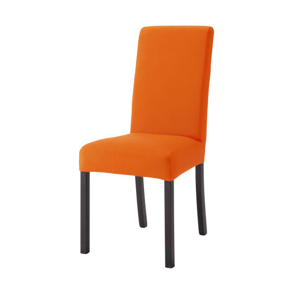 Housse de chaise en coton orange Margaux