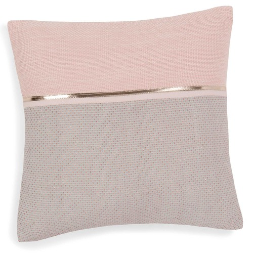 housse de coussin en coton rose gris 40 x 40 cm alanna maisons du monde. Black Bedroom Furniture Sets. Home Design Ideas