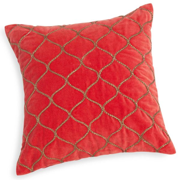 Coussin housse rouge for Housse coussin velours