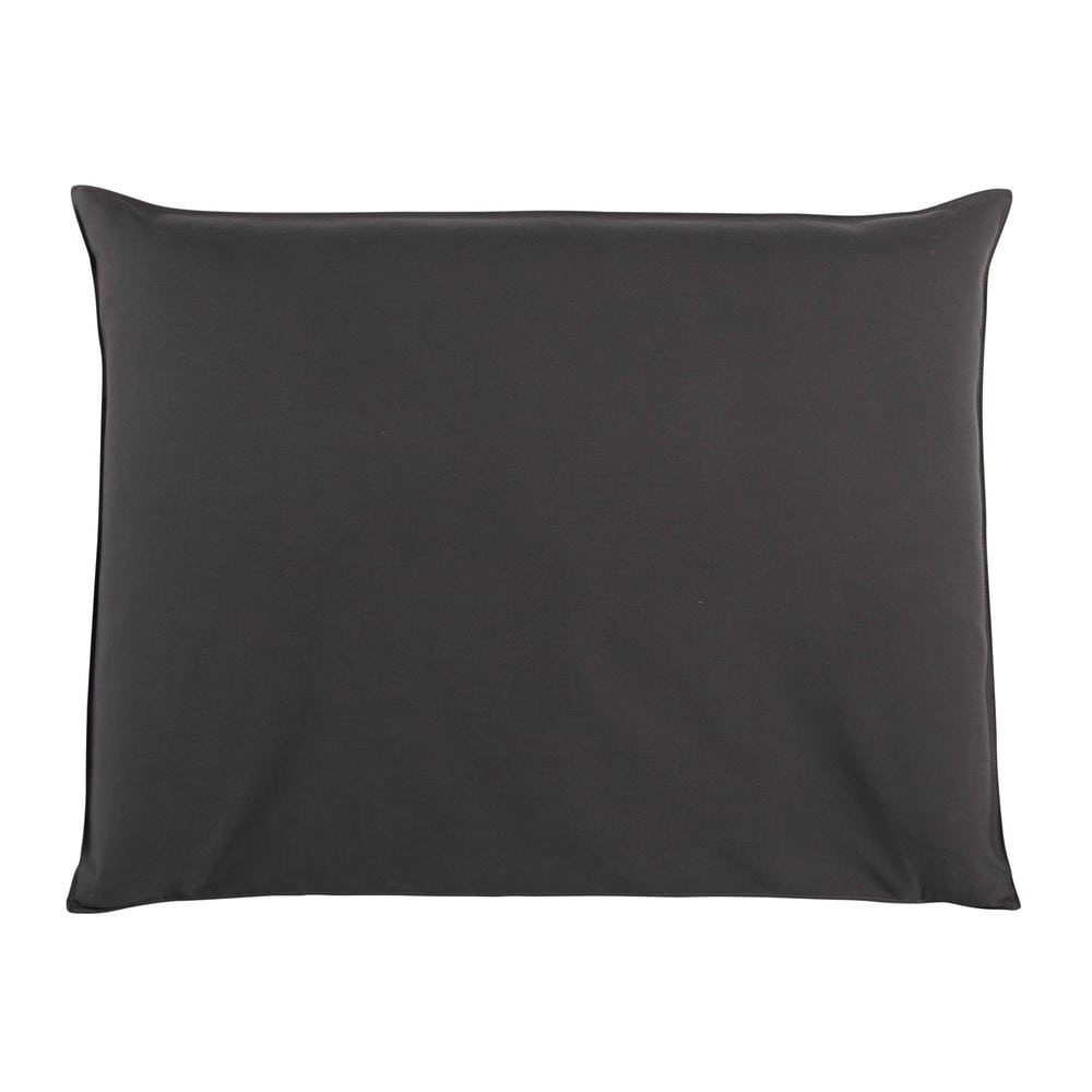 Housse de tête de lit 140 anthracite Soft (photo)