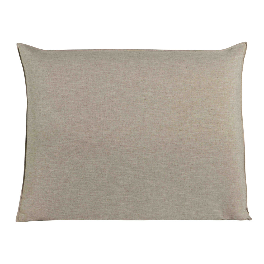 Housse de tête de lit 140 beige Soft (photo)