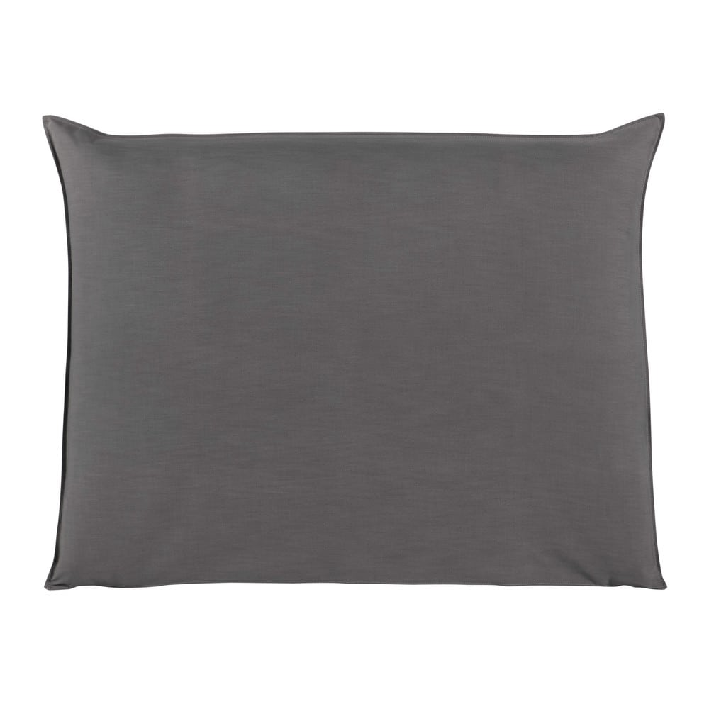 Housse de tête de lit 140 gris perle Soft (photo)