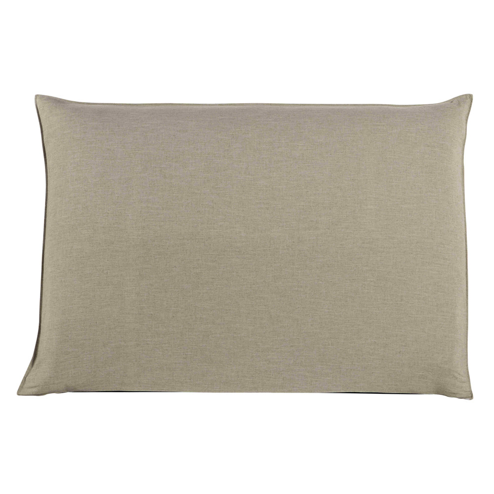Housse de tête de lit 160 beige Soft (photo)