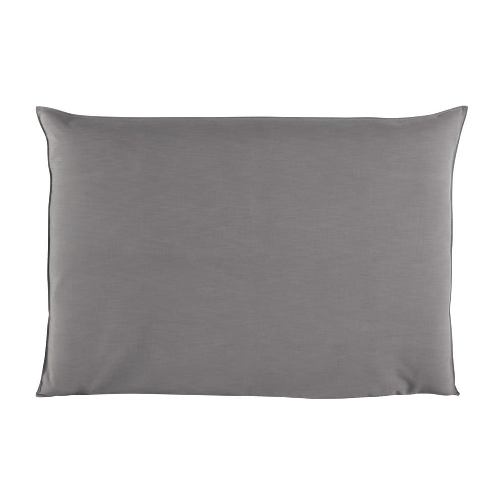 Housse de tête de lit 160 gris perle Soft (photo)